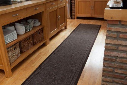Tapete pasillo concorde marrón resistente hecho a medida