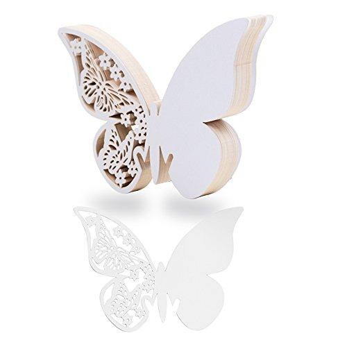 100 piezas tarjetas etiquetas decorativas mariposa invitacion agradecimiento regalo copa detalle nombre mesa boda cumpleaño comunión bautizo fiesta