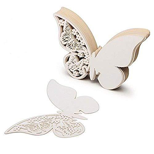 100 piezas de tarjetas etiquetas decorativas en forma de mariposa para invitacion pegatinas de pared
