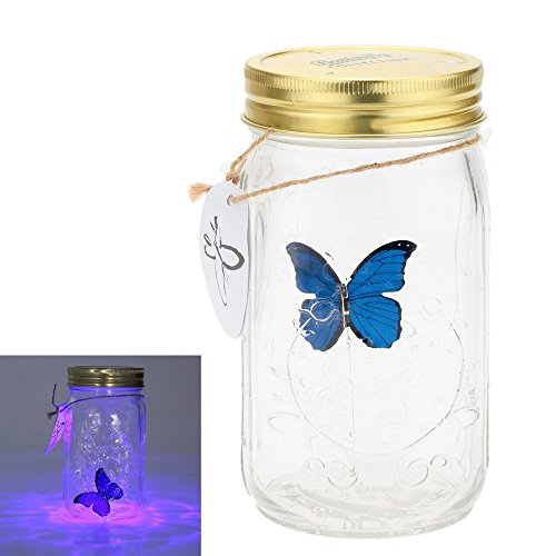 1 pieza led romántico lámparas de cristal de cristal de la mariposa