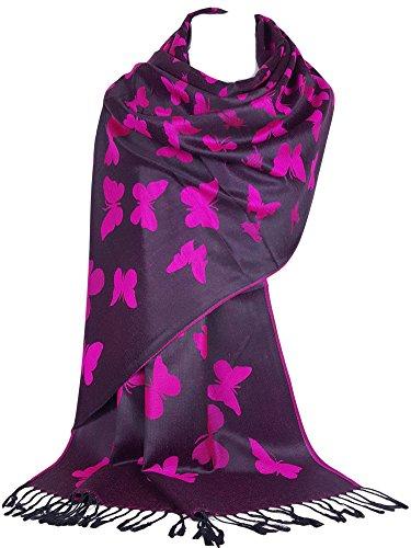 Diseño de la mariposa de gfm en la bufanda del estilo del pashmina