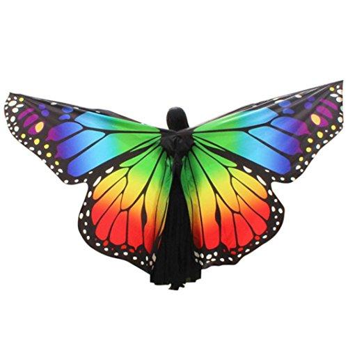 Disfraz para mujer/niños mariposa alas chal hada ninfa duendecillo cosplay capa disfraces