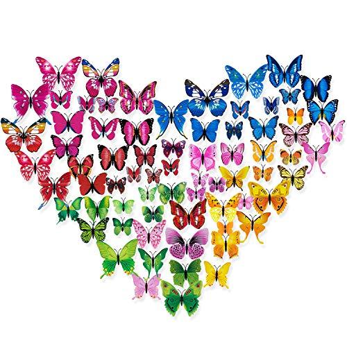 3d pegatinas de mariposas decoraciones