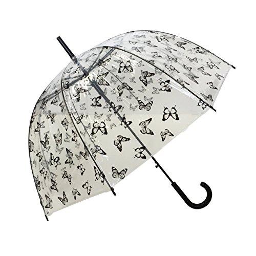 Paraguas clásico transparente talla única