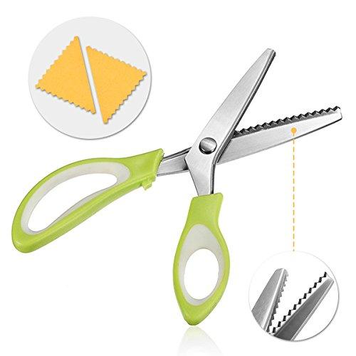 Tijeras 5mm triángulo dentado paño tijeras tijeras tijera dental material de la manija abs