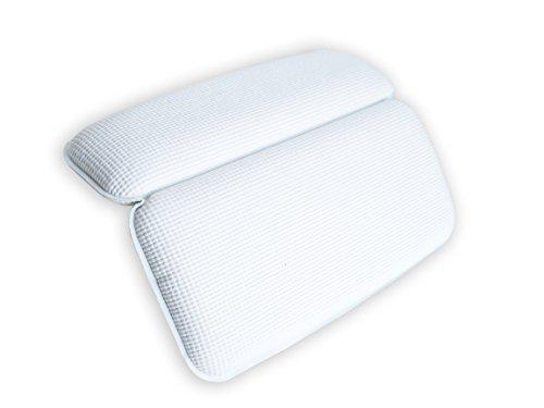#1 almohada premium de baño bruma suave mullida y con ventosas antideslizantes
