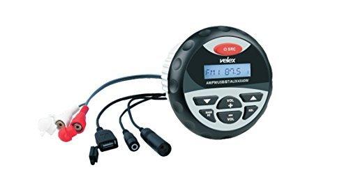 Resistente al agua bluetooth marine digital media receptor estéreo con reproductor de mp3 y de radio am fm usb para la transmisión de música en barcos carros de golf atv utv y spa jacuzzis