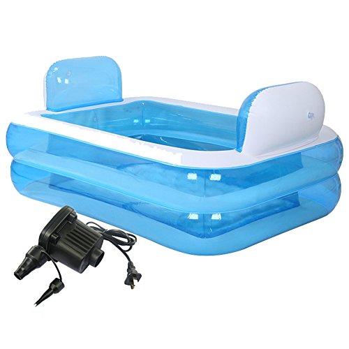 Bañera de hidromasaje inflable plegable gigante spa para adultos bañera de pie cómoda libre