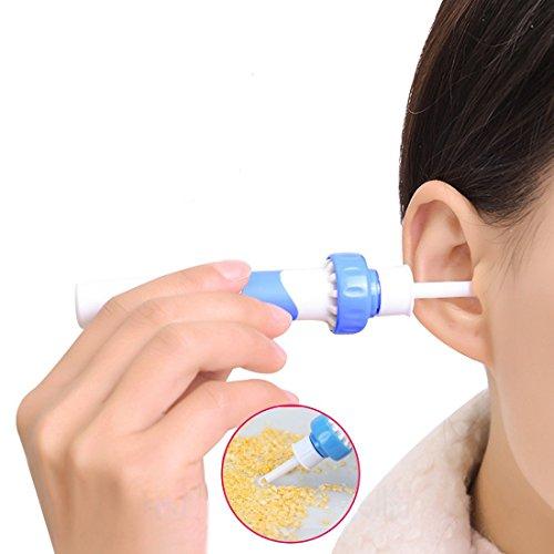 Funwwll limpiador de oídos cera eléctrica masaje removal kit soft ear wax cleaner ear-pick limpia herramientas set