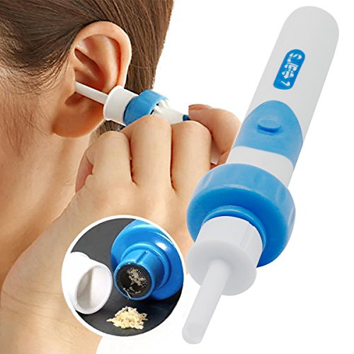 Limpiador de cera de oído con 2 puntas de silicona extraíbles; para bebés