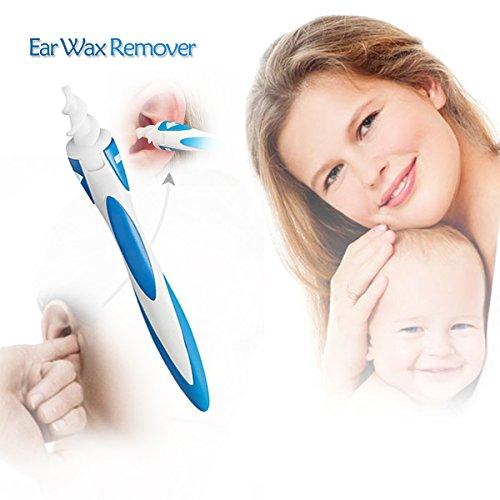 Limpiador de oidos bastoncillos oidos limpieza de oídos con punta suave en espiral silicona oído cera eliminar cerumen segura y eficaz