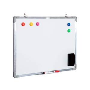 ALLboards Lavagna Bianca Magnetica Cancellabile a Secco Vassoio Portapennarelli Superficie Laccata Cornice Sottile in Alluminio Diverse Dimensioni